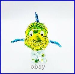 100% SWAROVSKI Disney The Little Mermaid Flounder Figurine Display Deco 5552917