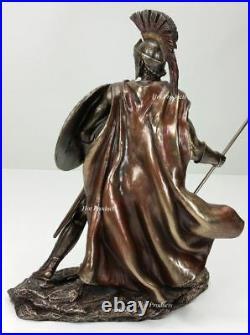 13.5 LEONIDAS Greek Warrior SPARTAN KING Statue Sculpture Figurine SPEAR SHIELD