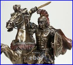 13 Alexander The Great on Horse Greek King Statue Bronze Finish Sculpture