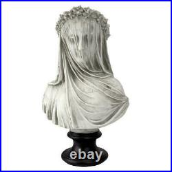 1850s Veiled Visions Woman Bust Lady Sculpture Hidden Madame Statue Decor NEW