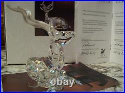 1994 Swarovski Silver Crystal Annual KUDU Box & COA MINT