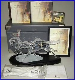 2001 Swarovski Limited Edition WILD HORSES Mint In Box withCOA & All Accessories