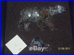 2011 Swarovski SIKU POLAR BEAR Annual Limited Edition SCS FIGURINE 1053154 MIB