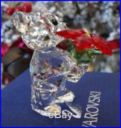 2012 Nib Swarovski Annual Kris The Christmas Bear With Poinsettia #1139967