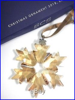 2018 Scs New Large Gold Ornament Authentic Swarovski Annual Christmas 5376665