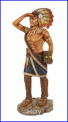 72.5 Tobacco Cigar Store Indian LifeSize Native American Statue Collectible