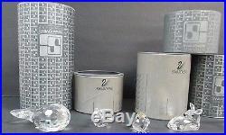 8 SWAROVSKI CRYSTAL FIGURES SILVER CRYSTAL IN BOXES SWAROVSKI