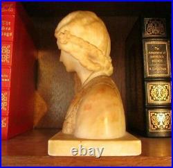Alabaster Bust G. Bessi (1857 1922) Grand Tour Carved Sculpture Besji Marble