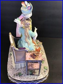 Antique French Porcelain(Sceaux Porcelaine) Figural Group/ Marked France C. 1876