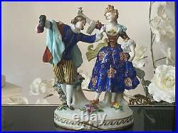 Antique German Dresden Porcelain Figurine A Couple