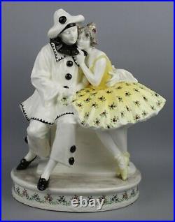 Antique Goldscheider Figurine Pierrot und Pierrette WorldWide