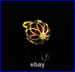 Antique Russian guilloche enamel Gold Diamonds Egg pendant, circa 1896