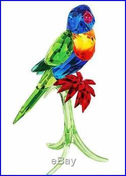 Authentic New in Box $629 Swarovski Rainbow Lorikeet Bird parrot # 5136832
