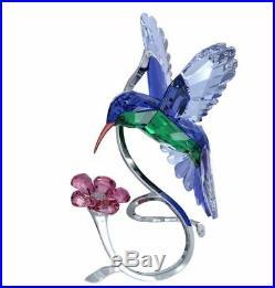 Authentic New in Box Swarovski Hummingbird Blue Rare #1188779