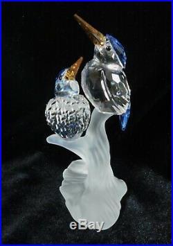 Authentic Swarovski Crystal Malachite Kingfishers Birds MIB 623323 Retired