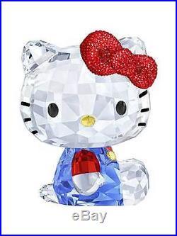 Authentic Swarovski Hello Kitty Large Red Bow Blue Sanrio BNIB 5135946