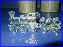 Beautiful Swarovski Silver Crystal 5 Piece Choo Choo Train With Track Mirror