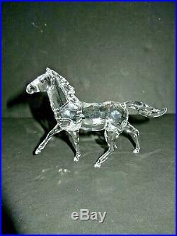 Beautiful Swarovski Silver Crystal Running Horse Figurine