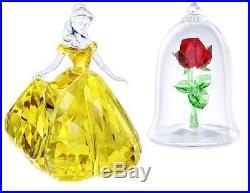 Belle & Enchanted Rose Disney Beauty And Beast 2017 Swarovski Crystal #set