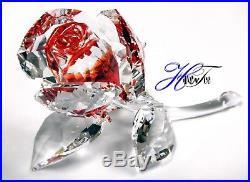Blossoming Rose, Red Flower In Secret Garden 2019 Swarovski Crystal 5428561