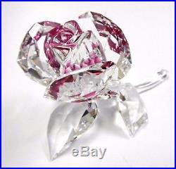 Blossoming Rose Ruby Clear Crystal Love Flower 2017 Swarovski Crystal 5248878