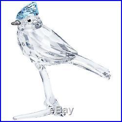 Blue Jay Bird Perched On Crystal Branch 2019 Swarovski Crystal 5470647