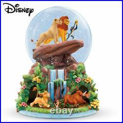 Bradford Exchange Disney'The Lion King' Rotating Musical Glitter Globe