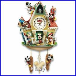 Bradford Exchange The Disney Mickey Mouse Through The Years Cuckoo Clock with Li