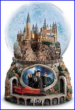 Bradford Exchange The Harry Potter Musical Glitter Globe with Rotating Train NEW