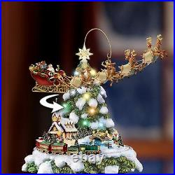 Bradford Thomas Kinkade Animated Tabletop Christmas Tree Train Wonderland Expres