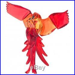 Brand New Swarovski (5136809) Red Parrots Birds Of Paradise Crystal Figurine