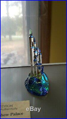 Crystal Figurine Sapphire Rainbow Palace Castle Limited Edition COA Garratt