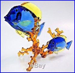 Doctorfish Blue Fish Coral Tropical Sea Life 2016 Swarovski Crystal #5223194