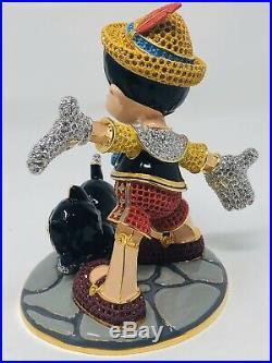 Disney Arribas Brother With Swarovski Crystals Pinocchio An Fig Figurine