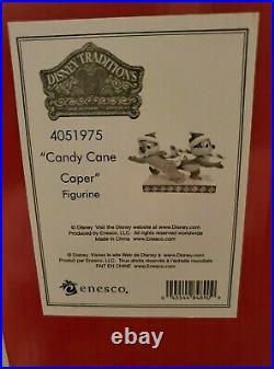 Disney Jim Shore Chip & Dale Candy Cane Caper 4051975 NIB Retired
