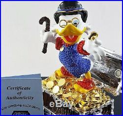 Disney Parks Authentic Scrooge Mcduck Figurine Arribas Swarovski Le Htf