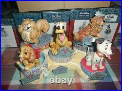 Disney Traditions by Jim Shore Canine set 5 dogs with bone NIB