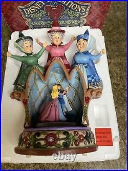 Disney jim shore sleeping beauty Three fairies music box 4011740