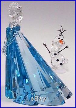 Elsa (ltd) And Olaf Disney Frozen Crystal Set 2016 Swarovski #5135880 5135878