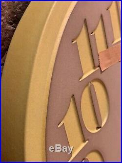 Edith Heath Ceramics Wall Clock Discontinued Color Canary Eames Knoll Era MIB NR