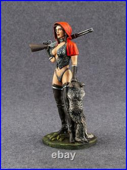 Elite Painted Sexy Girl Red Riding Hood Figure 1/24 Female 75mm Toy Tin Soldier