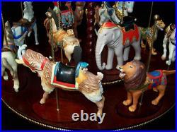 Franklin Mint Treasury Of Carousel Art 1988 Set Of 12 Animals Nib