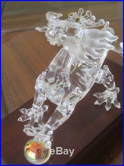 Genuine Limited Edition Swarovski Crystal Dragon, Wood Base, Factory Box