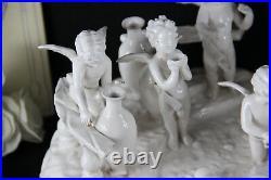 Gorgeous French Antique Bisque porcelain white putti cherubs group