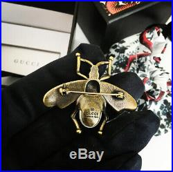 Gucci Antique Bee Brooch Pin With Pearl
