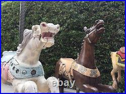 Hand Carved Wooden Carousel Horse Circa 1905, withmounting hdwr, horse hair tail