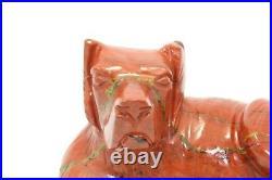 Handmade Natural Red Jasper gemstone Dog Figure Home Decorative Gift Item