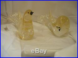 Italian Murano Glass Pair of Birds
