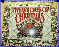 Jim Shore 12 Days of Christmas Ornament Set 12 Pieces New In Box 2005 Retired