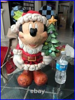 Jim Shore Christmas Large 17 Mickey Mouse Santa Porch Greeter 2018 New